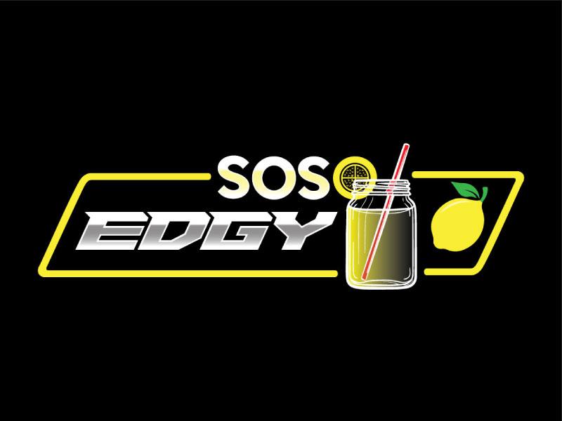 SoSoEdgy logo design by nona