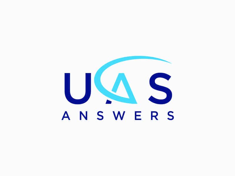 UAS Answers logo design by afra_art