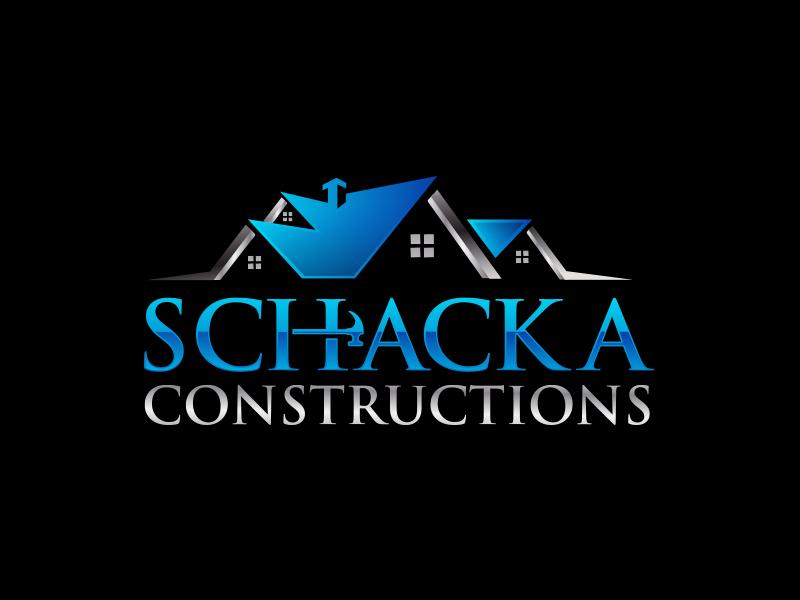 SCHACKA CONSTRUCTIONS logo design by scriotx