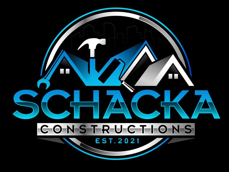 SCHACKA CONSTRUCTIONS logo design by DreamLogoDesign