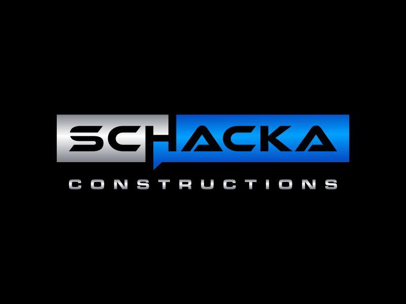 SCHACKA CONSTRUCTIONS logo design by asani