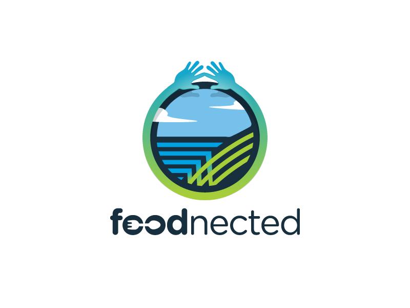 Foodnected logo design by Dawn