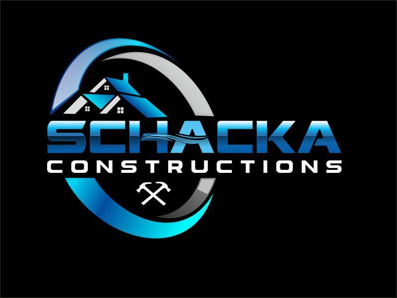 SCHACKA CONSTRUCTIONS logo design by bosbejo