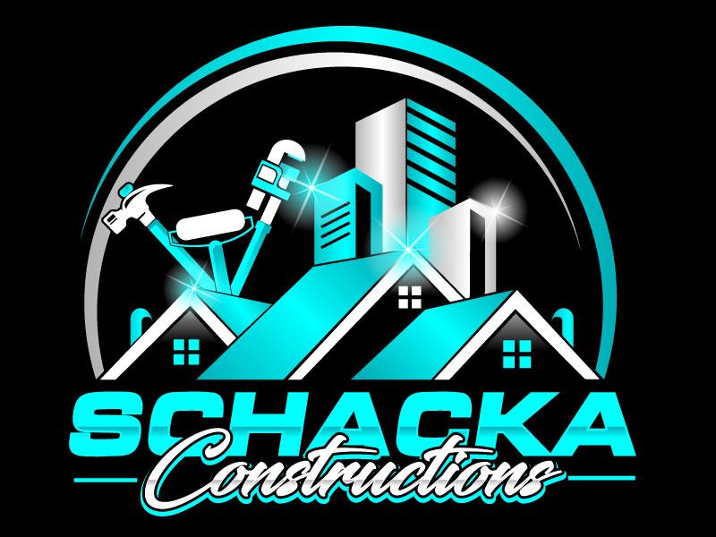SCHACKA CONSTRUCTIONS logo design by LogoQueen