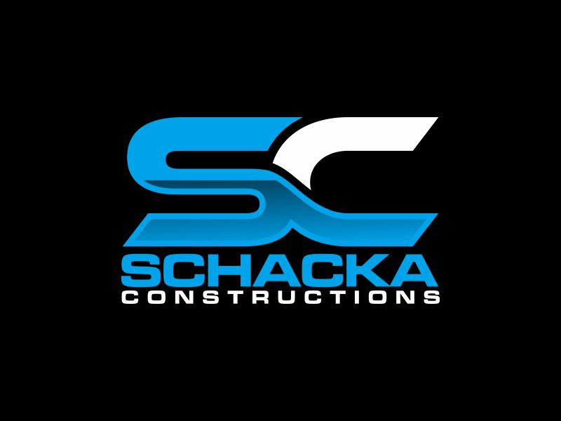SCHACKA CONSTRUCTIONS logo design by josephira