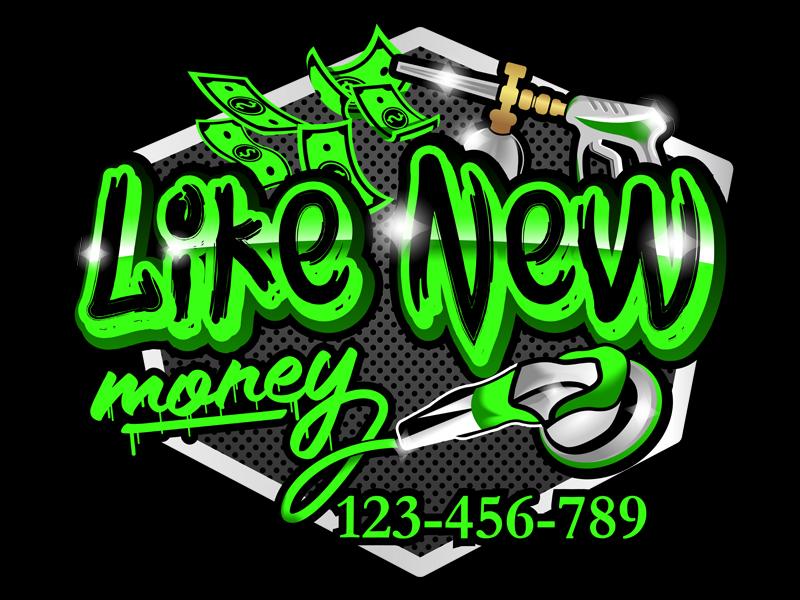 Like New Money logo design by Ryan Prapta Putra