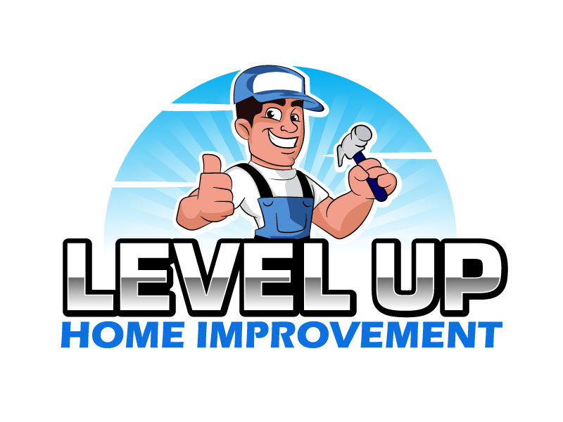 Level Up Home Improvement logo design by ElonStark