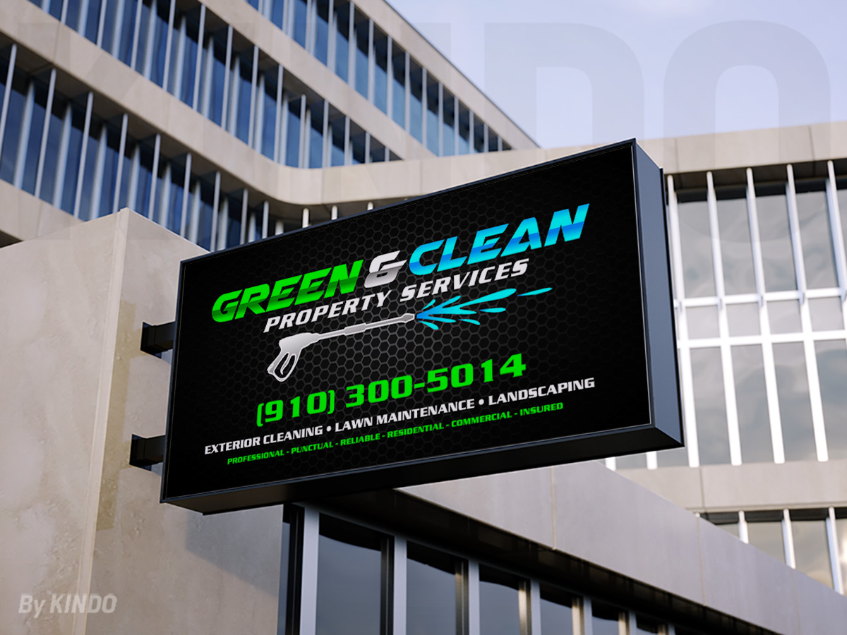 Green and Clean Property Services logo design by Kindo