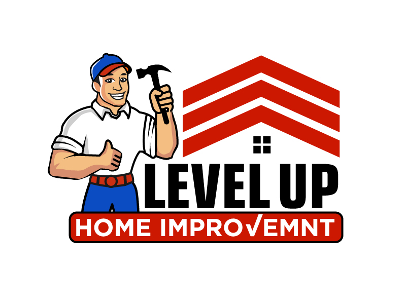 Level Up Home Improvement logo design by Foxcody