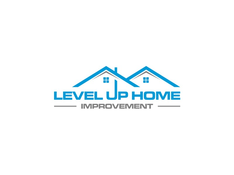 Level Up Home Improvement logo design by sodimejo