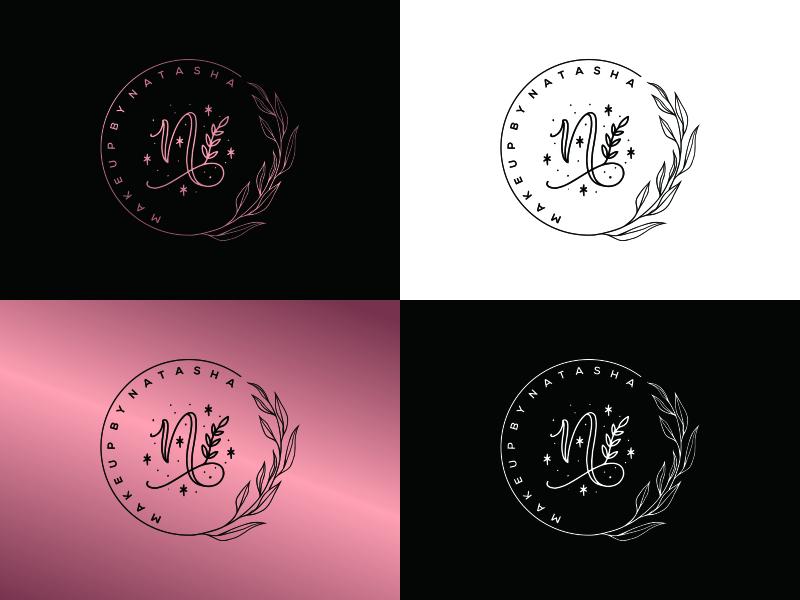 Makeup by Natasha logo design by Latif