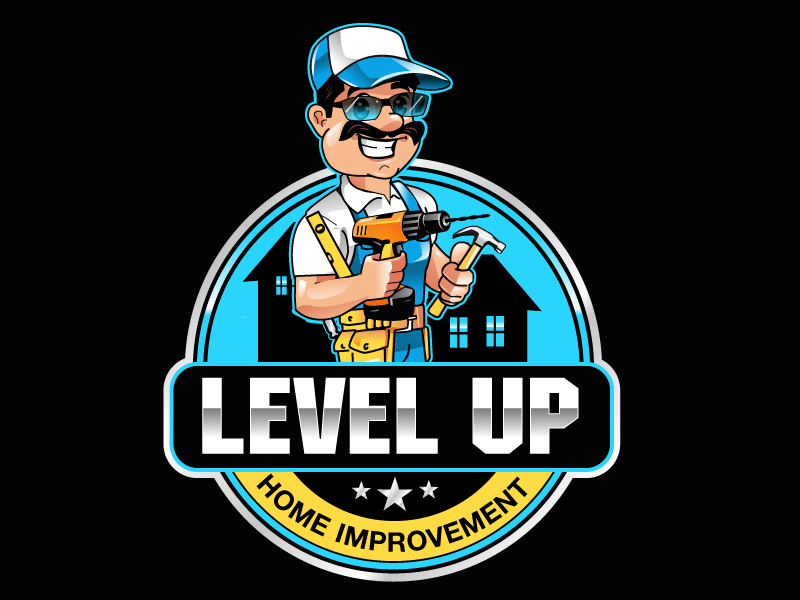 Level Up Home Improvement logo design by uttam