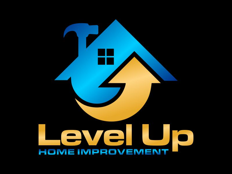 Level Up Home Improvement logo design by Gwerth