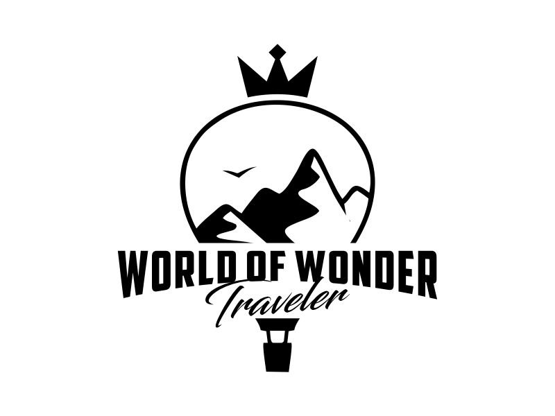 World Of Wonder Traveler logo design by Gwerth