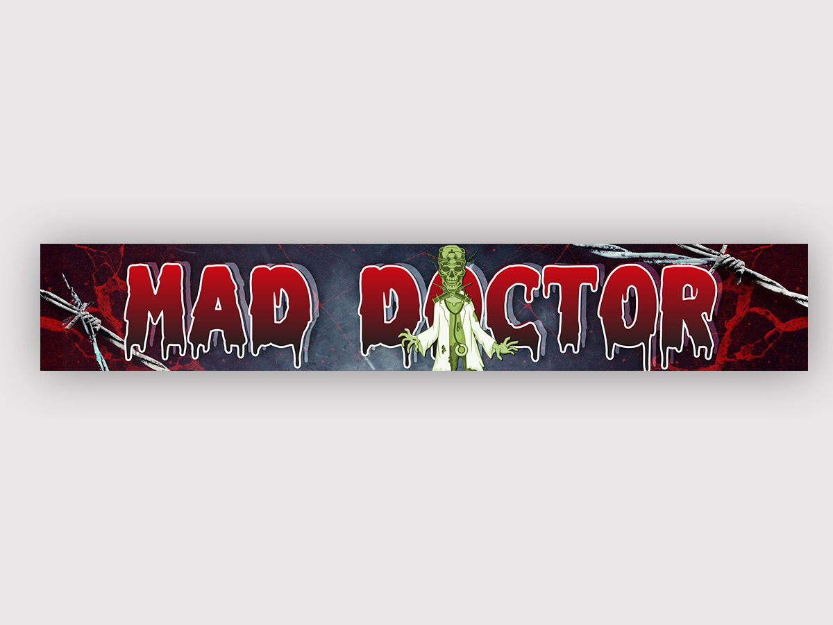 Youtube channel banner - Mad Doctor logo design by yondi