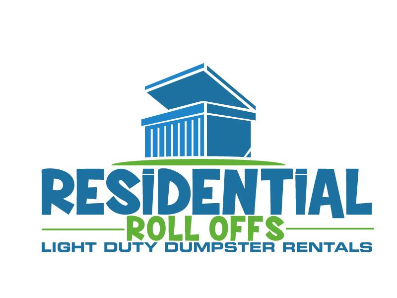 Residential Roll Offs  Tagline: Light Duty Dumpster Rentals logo design by ElonStark