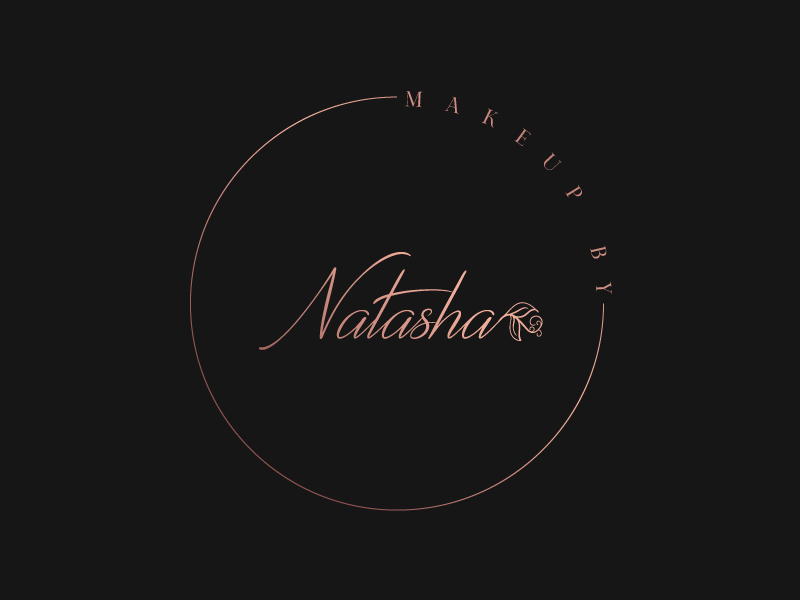 Makeup by Natasha logo design by Sami Ur Rab