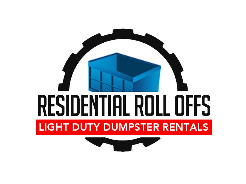 Residential Roll Offs  Tagline: Light Duty Dumpster Rentals logo design by kunejo