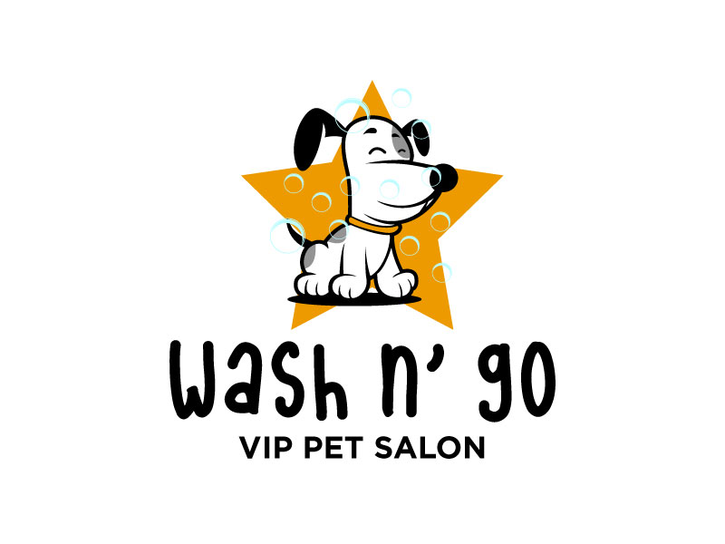 WASH N' GO   Vip Pet Salon logo design by torresace