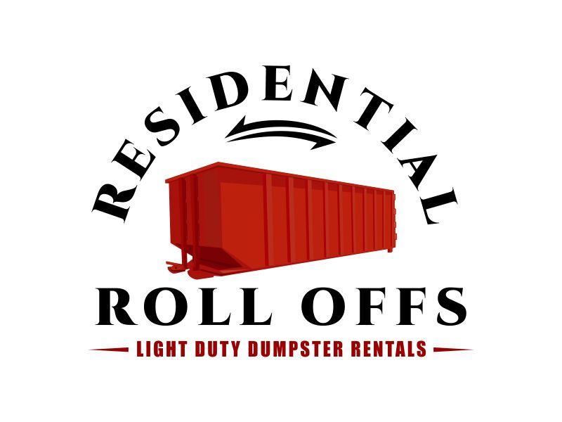 Residential Roll Offs  Tagline: Light Duty Dumpster Rentals logo design by Dhieko