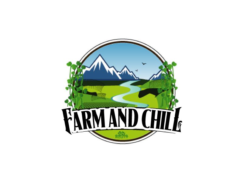 Farm and Chill logo design by ElonStark