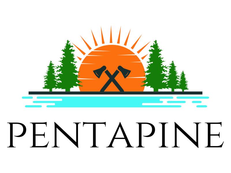 pentapine or Penta Pine logo design by jetzu
