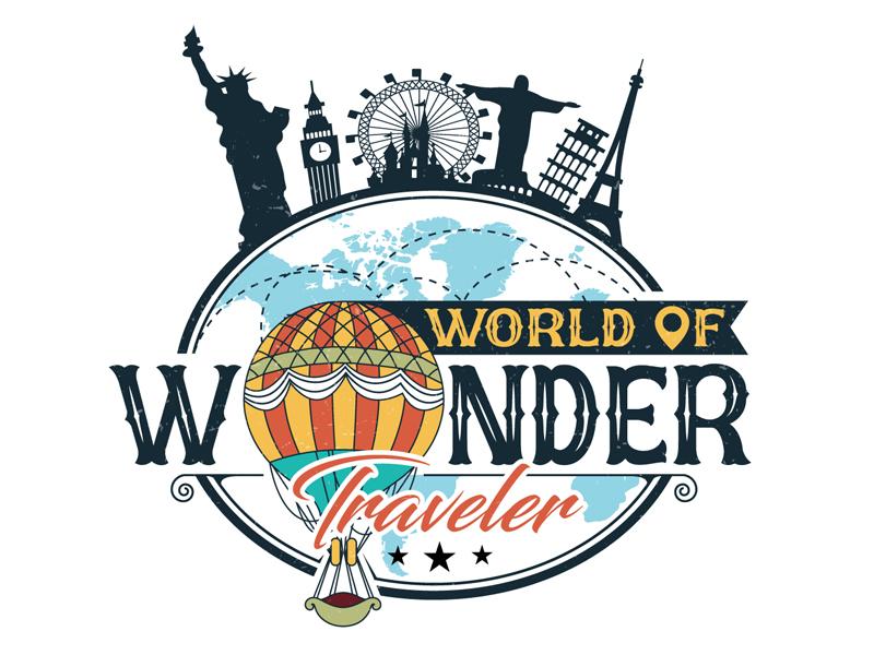 World Of Wonder Traveler logo design by DreamLogoDesign