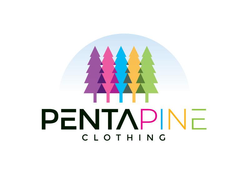 pentapine or Penta Pine logo design by REDCROW