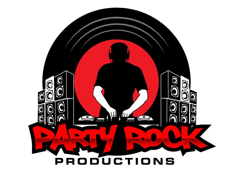 Party Rock Productions logo design by Suvendu
