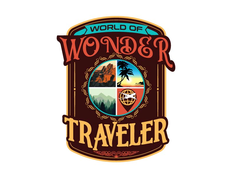 World Of Wonder Traveler logo design by axel182