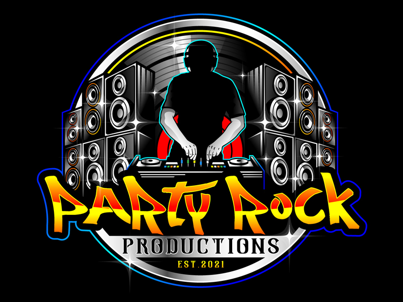 Party Rock Productions logo design by DreamLogoDesign