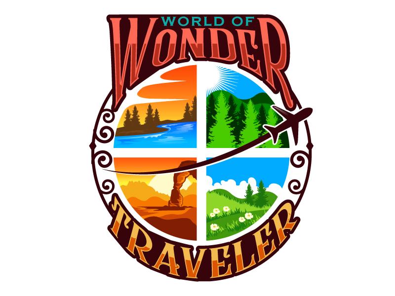 World Of Wonder Traveler logo design by LogoQueen