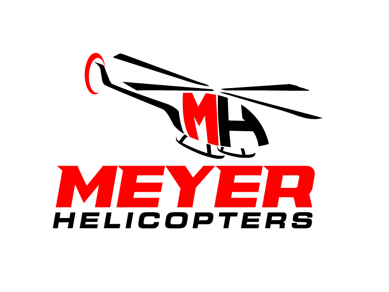 Meyer Helicopters logo design by jaize