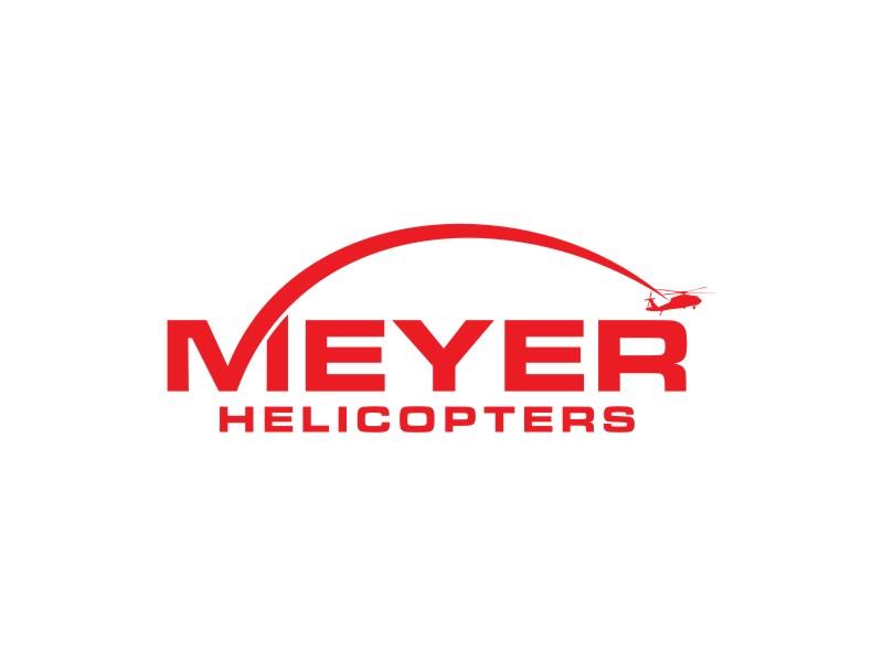 Meyer Helicopters logo design by johana