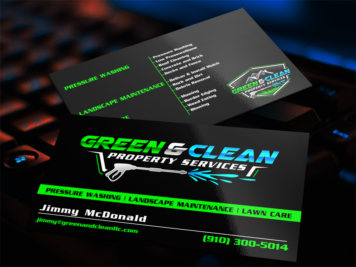 Green and Clean Property Services logo design by Thuwan Aslam Haris