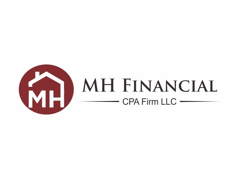 MH Financial CPA Firm LLC logo design by Greenlight