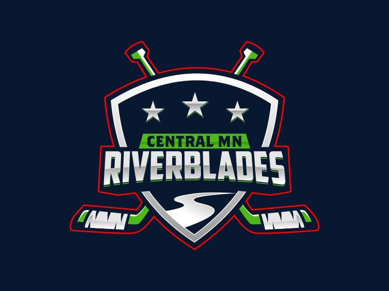 Central Minnesota Riverblades or Riverblades or Central MN Riverblades logo design by rizuki
