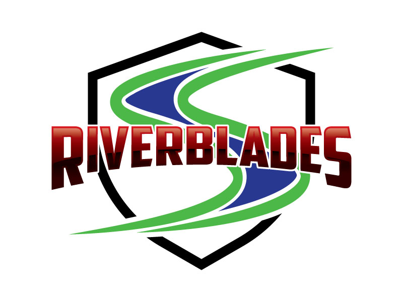 Central Minnesota Riverblades or Riverblades or Central MN Riverblades logo design by Godvibes