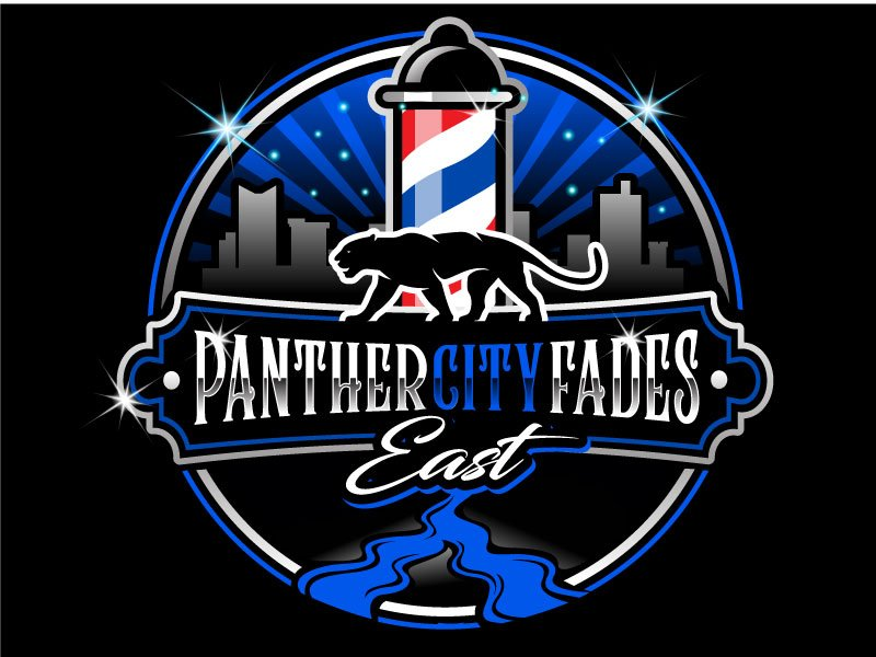 Panther City Fades East Logo Design