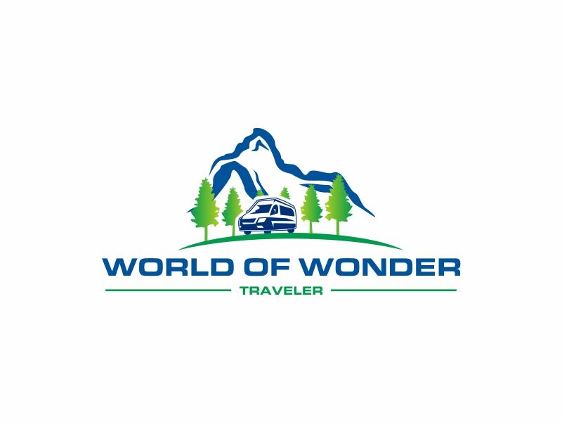 World Of Wonder Traveler logo design by Greenlight