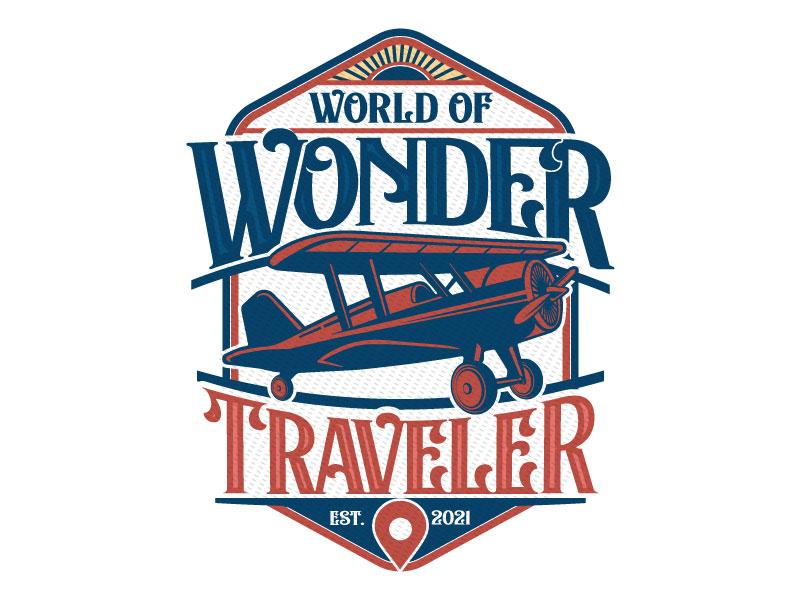 World Of Wonder Traveler logo design by Godvibes