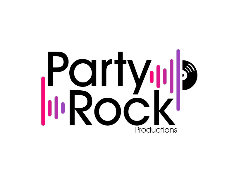 Party Rock Productions logo design by MTgraphics