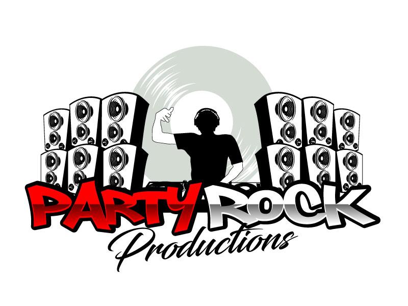 Party Rock Productions logo design by ElonStark