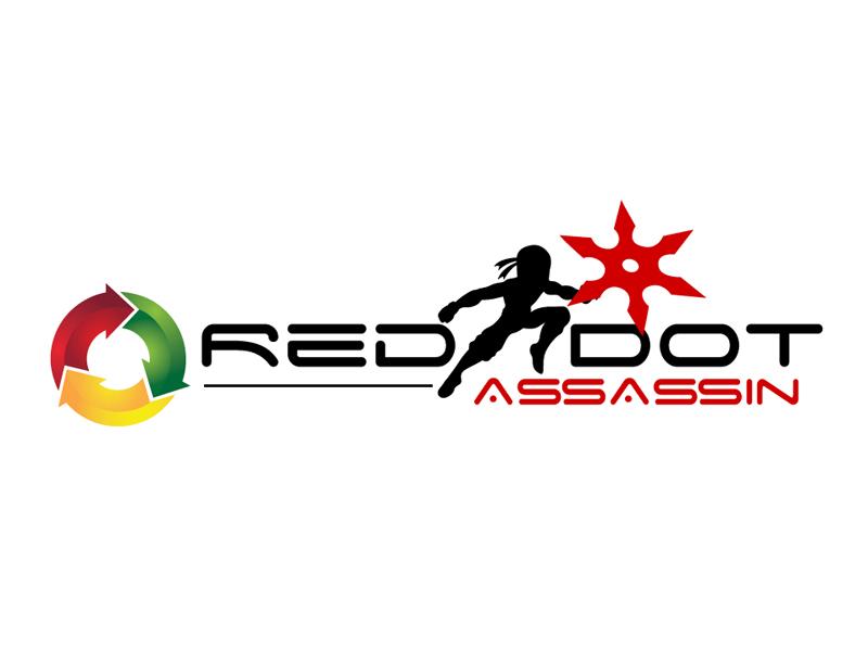 Red Dot Assassin (Masculine) logo design by DreamLogoDesign