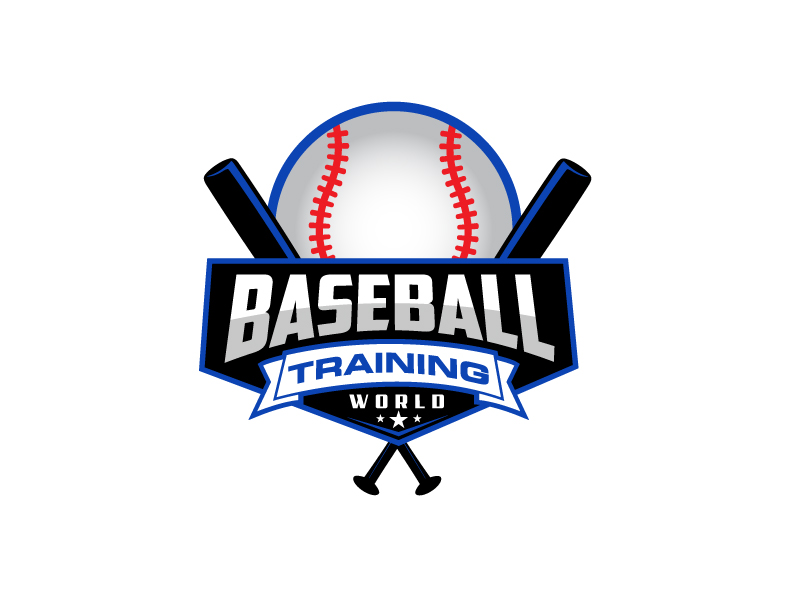 Baseball Training World logo design by LogoInvent