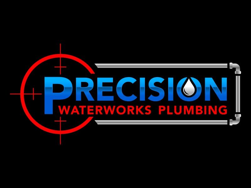 Precision Waterworks Plumbing Logo Design