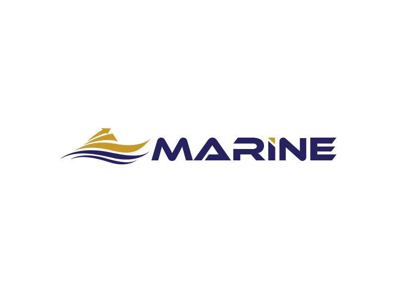 Marine logo design by usef44