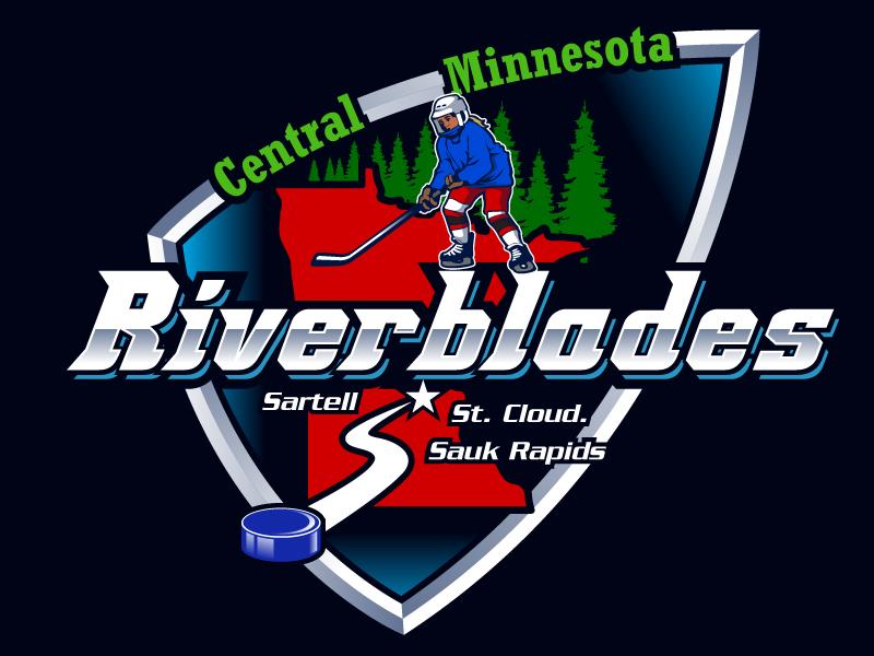 Central Minnesota Riverblades or Riverblades or Central MN Riverblades logo design by Suvendu