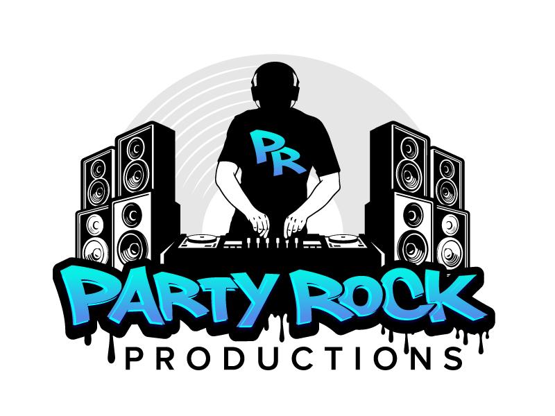 Party Rock Productions logo design by jaize
