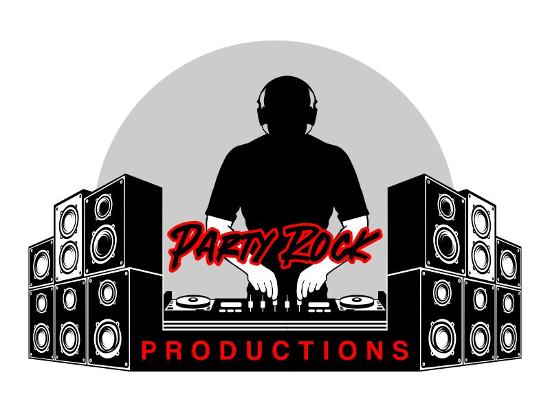 Party Rock Productions logo design by savana